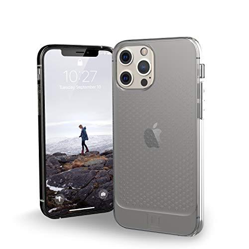 "U by UAG [U] Lucent Case Apple iPhone 12 / iPhone 12 Pro (6,1"") Funda Protectora (Semitransparente, Compatible con la Carga inalámbrica, Resistente a los Golpes) - Ice (Transparente)"