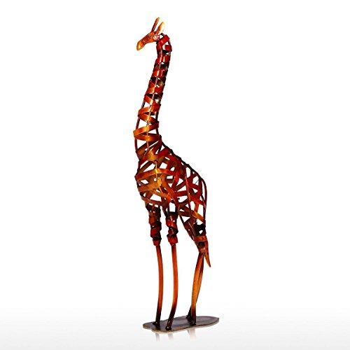 Estatua Escultura Ornamentos Decorativos Mobiliario para El Hogar, Artesanías De Decoración En Metal, Jirafa Tejida En Hierro Forjado