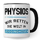 Taza de fisioterapia, fisioterapia, Wir Rette Die Welt en pantalones de jogging
