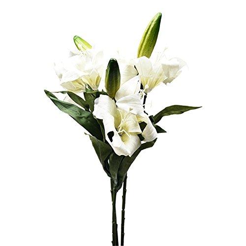 ZTTLOL 3 Zweig/Lot Real Touch Lily Blumen Künstliche Blumen Hochzeit Brautsträuße Startseite Hochzeit Dekoration Gefälschte Blumen Kränze, 02