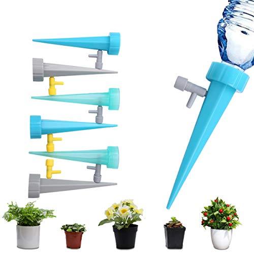 [6個セット]自動給水キャップ M.ZONE 水やり当番 自動散水システム 水遣り器 自動水やり器 水量調整 園芸用品 散水用具 灌漑 水やり 盆栽 庭園 ガーデニング 留守用