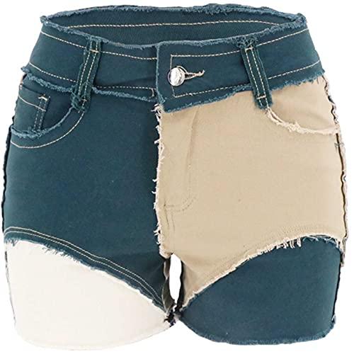 WXZZ Pantalones vaqueros cortos para mujer, moda de verano, sexy, personalidad, sastre, ultra cortos,...