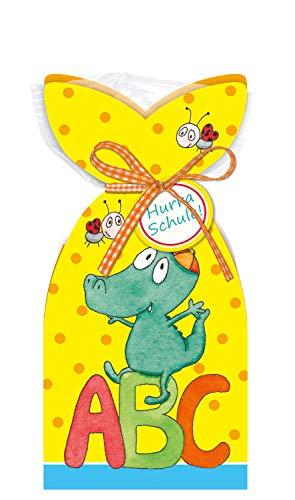 STEINBECK Einschulung Geschenk süß Erstklässler Schulstart Fruchtgummi Schultüte Zuckertüte 100g Befüllung ABC Schulkind Tiere