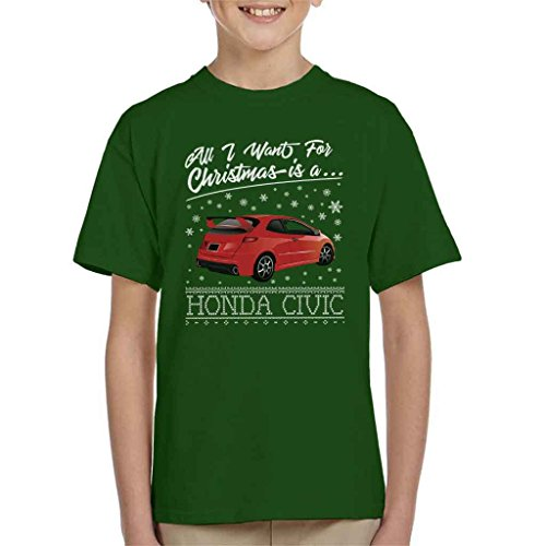All I Want For Christmas Is A Honda Civic Kid's T-Shirt