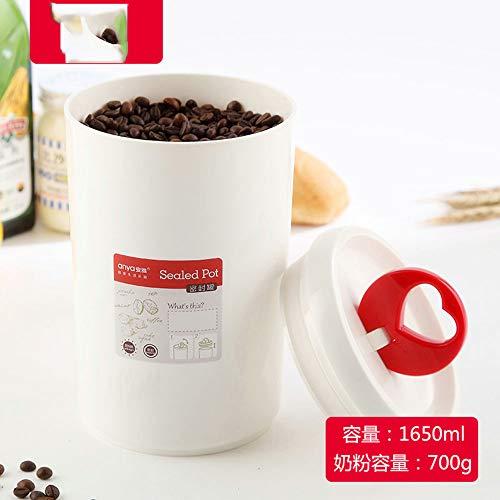 Xiaokang Moisture-Proof Milk Powder Sealed Jar Round Baby Baby Food Supplement Box Small Household Popular Portable Dark Storage Bucket,1650ml