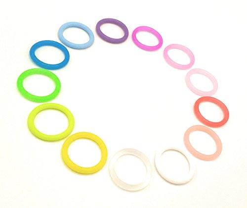 O-Ring Silikonring (Adapter) für Schnuller - Schnullerhalter für Baby Schnullerketten - aus weichem Silikon (Klar)