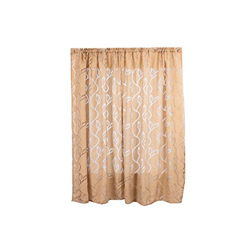 ClodeEU Trees Sheer Curtain Tulle Window Treatment Voile Drape Valance Fabric for Bedroom Home Wall Décor Beige
