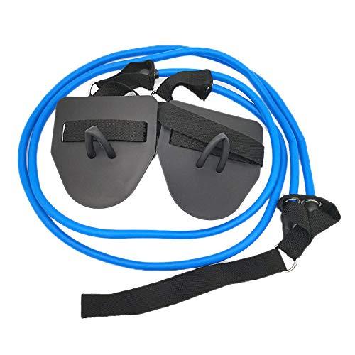 BKAUK Fitness Widerstandsbänder Schwimmen Arm Krafttrainer Pilates Zugseil Schläuche für Fitnessstudio Schwimmen Muskeltraining blau