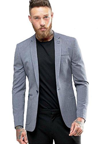Beetle Grey Cotton Men's Blazer (Btl-4510_Xx-Large)