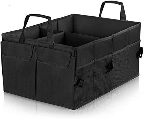 Wuudi Kofferraum Organizer Kofferraumtasche Faltbox mit vielen Fächern Faltbare Einkaufskorb Tasche Auto Aufbewahrungsbox 52 * 38.5 * 26CM