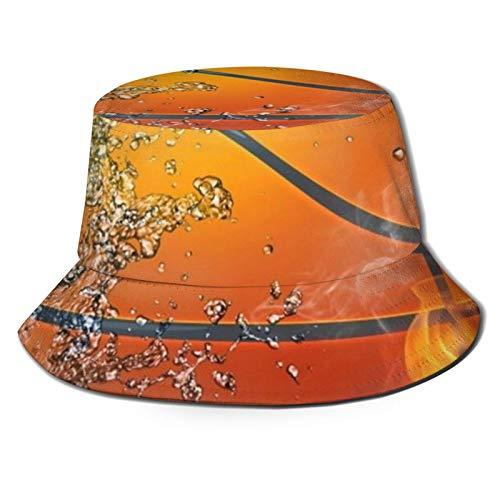 hulili Baloncesto, unisex, protección UV, sombrero de pescador reversible de verano, gorra de moda casual para pesca, safari, senderismo, camping, playa y barco, color negro
