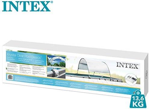 Intex 28054 - Toldo solar piscina, INTEX, para piscinas desmontables, largo 180 cm, con protección UV+50, tejido impermeable, Fácil de instalar, Metal Frame, XRT Frame 6