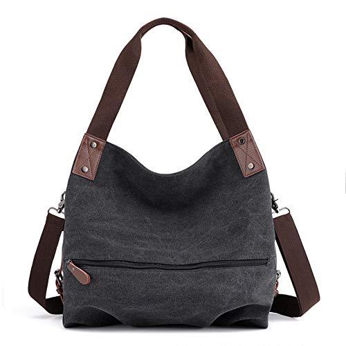 Frauentasche,3 Möglichkeiten Cabrio Tasche Vintage Umhängetasche Handtasche Umhängetasche Damen große Hobo Tote Shopper Reisetasche