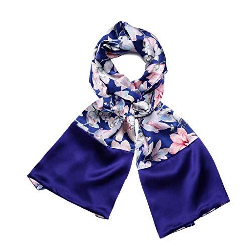 WXDP Herbst- und Winter-Schal, für draußen, warmes Seidenmaterial, weich, modisch, elegant, dekorativ, groß, mehrfarbig (Farbe: 08)
