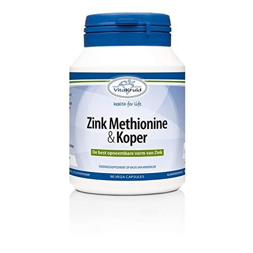 Vitakruid Zink Methionine Koper, 90 Stuk, 90 Capsules