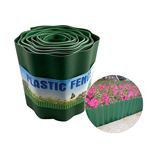 Snlaevx 9M Rasen Zaun Kunststoff Rasenkanten Garte Palisade Zierzaun Blume Pflanze Grenze Gartenzaun Hausgarten Fence Wandrolle (20 cm)