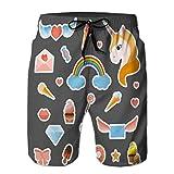 Pantaloncini da Nuoto Estivi per Ragazzi in Esecuzione bauli distintivi Patch Moda Coulisse L