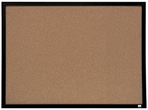 Nobo Korkpinnwand (mit schwarzem Rahmen, 58,5 x 43,0 cm)