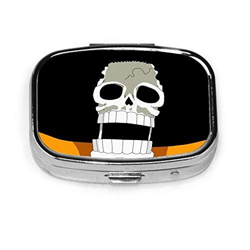 O-nePiec-e Ace, caja de pastillas cuadrada plateada de moda personalizada, soporte para tableta, estuche organizador de billetera para bolsillo o