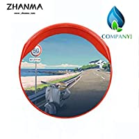 カーブミラー 車庫鏡 45センチメートル60センチメートル75センチメートル80センチメートル100センチメートル120センチメートル交通道路180°の広角レンズ、ABSのHDガレージミラー huhuan 12-26 (Size : 45cm)