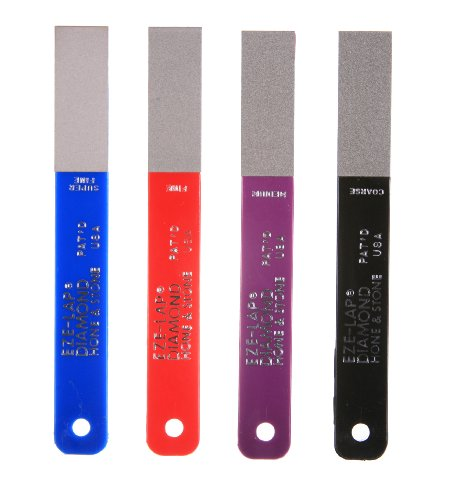 EZE-LAP L PAK4 Set SF/F/M/C Color Coded Diamond Hones