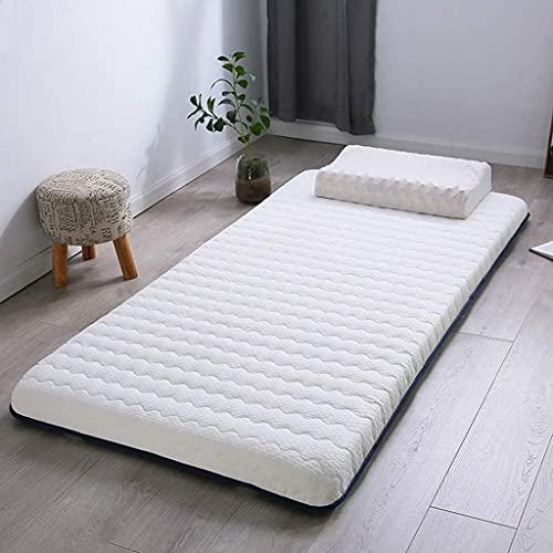 Colchones Futón colchón, colchón de tatami para niños, 6 cm de espesaje de memoria Tatami Tatami Almohadilla de dormir rodillo plegable colchón para colchón dormitorio estudiantil Textiles del hogar