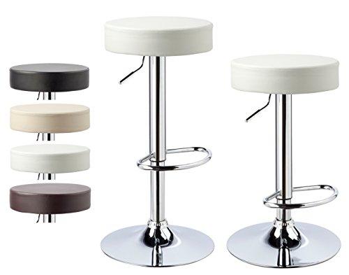 Kronenburg 2 x Barhocker Classic Weiß – Farbwahl vier Farben - 2