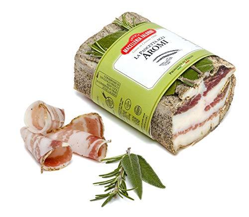 Antica Macelleria Falorni, La Pancetta agli Aromi, Prelibatezza Toscana, Profumata e 100% Italiana, 350gr ca