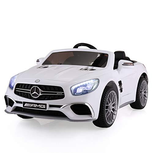 TOBBI Licensed Mercedes Benz 12V Kids Ride On Car with...