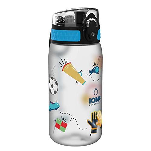 ion8 auslaufsichere Kinder Trinkflasche, Fußball, 350ml