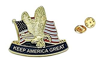 Donald Trump Man Lapel Pin Keep America Great MAGA Pin Perfect American Flag Lapel Pin USA Pin American Flag Pin for Suit Donald Trump Pins Buttons 2020 MAGA Lapel Pin Trump 2020 Pin  1 PCK