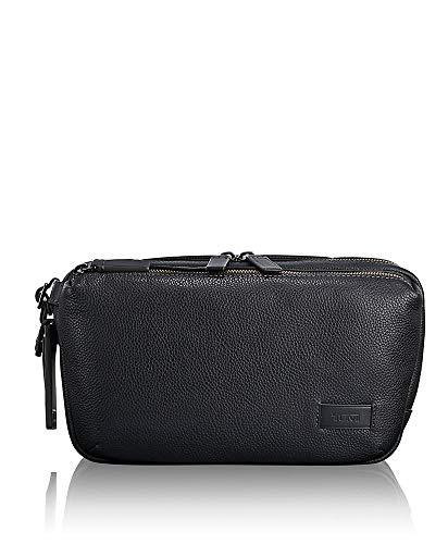 Tumi Harrison Daniel Leather Utility Pouch Money Belt, 29 cm, Black (Black Leather)