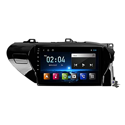 Android 10 Car Radio de Navegación GPS para Toyota Hilux AN120 2015-2020 con 9 Pulgada Pantalla Táctil Support FM Am RDS DSP/MP5 Player/BT Steering Wheel Control/Carplay,RHD,M300