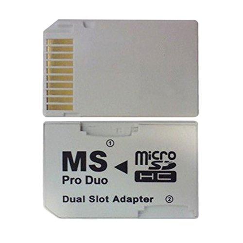 ToneStyle-U Dual 2 Slot Micro para SD SDHC TF a Memory Stick MS Card Pro Duo Reader Adapter para PSP