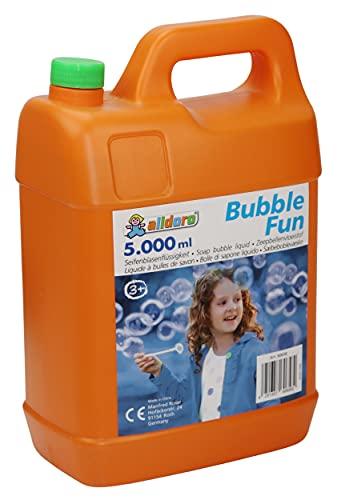 alldoro- Bubble Fun Liquide à Bulles en bidon de 5 l d'eau savonneuse XXL de 5000 ML pour Enfants, Adultes, fêtes et événements, 60658, Orange