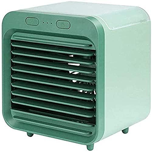 Ai-lir Miniskirt Air Cooler Fan USB Aire Acondicionado Aire Acondicionado portátil Evaporativo de Escritorio Purificador de humillería para la Oficina de Placa de Verano (Color : Green)