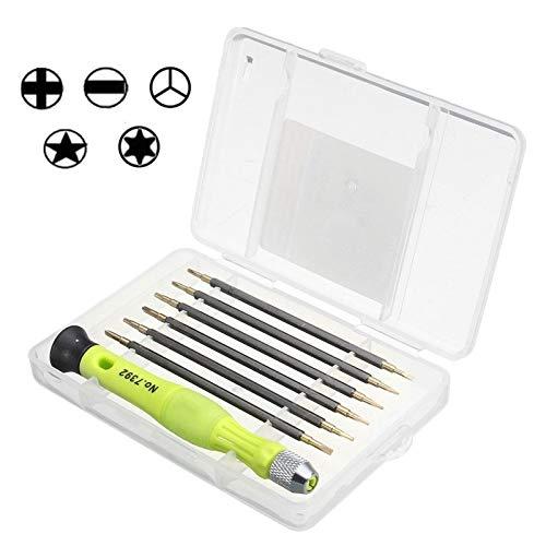 Wblue Mobile Phone Repair Tools 7 in 1 Portable Screwdriver Kit Set Chrome Vanadium Alloy Steel Professional Repair Hand Tools Set