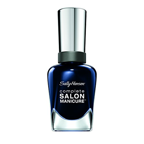 Sally Hansen Complete Salon Manicure Nagellack, 531 Dark Hue-mor/pflegender, Dunkelblau metallic, 15 g
