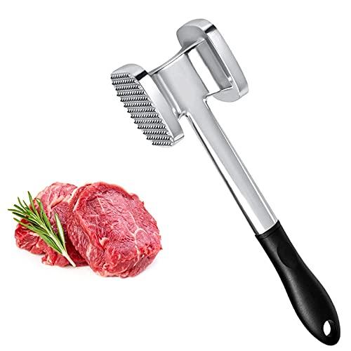 YADIMI Mazos para Carne,Herramienta para mazo de Carneartillo de Carne para filetes, Pollo, Pescado, Cerdo, Doble Cara, Apto para lavavajillas