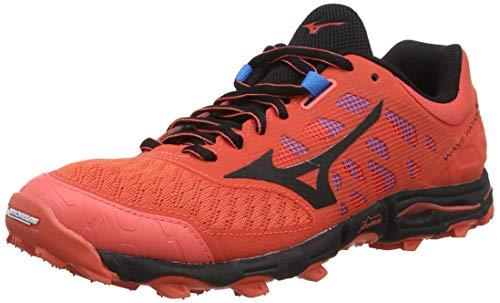 Mizuno Wave Hayate 5, Zapatillas de Running para Asfalto para Mujer, Naranja (Hot Coral/Black 09), 38.5 EU
