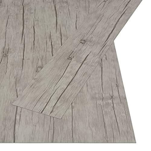vidaXL Lamas para Suelo PVC Autoadhesivas Losetas Vinilo Decoración Interior Metarial Construcción Bricolaje Hogar 4,46 m² 3 mm Roble