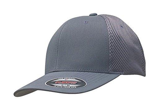 Flexfit Men's Ultrafibre Airmesh Fitted Cap, Grey, Small/Medium