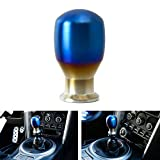 iJDMTOY Burnt Titanium Finish JDM Drop Shape Shift Knob Universal Fit Compatible With Most Car 4 5 6 Speed Manual or Automatic etc.