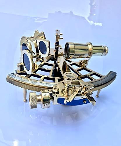 vintage-decoratives - Sextante Marina de latón Macizo para Trabajar sextante Funcional y Original sextante sextante astrolabio marítimo de navegación sextante