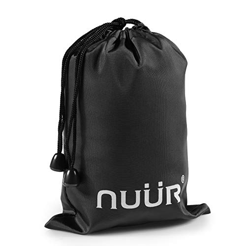 NUUR Black PU Leather Storage Drawstring Bag Pouch Waterproof Gift Pouch for Masks Ideal to Carry Face Masks Mobile Phone Accessories Keys Water Resistant Versatile Durable