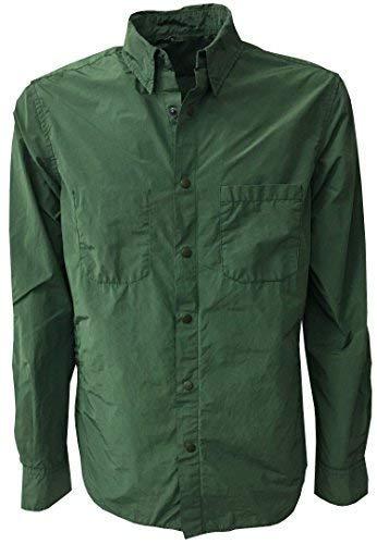 ASPESI Giacca Camicia Uomo Verde MOD Alvaro I002 F973 80% Poliestere 20% Poliammide (XL-52)