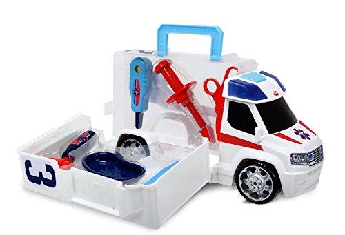 Dickie Toys - 203716000 - Véhicule Miniature - Modèle Simple - Ambulance - Push & Play Accessoires Docteur - 33 Cm