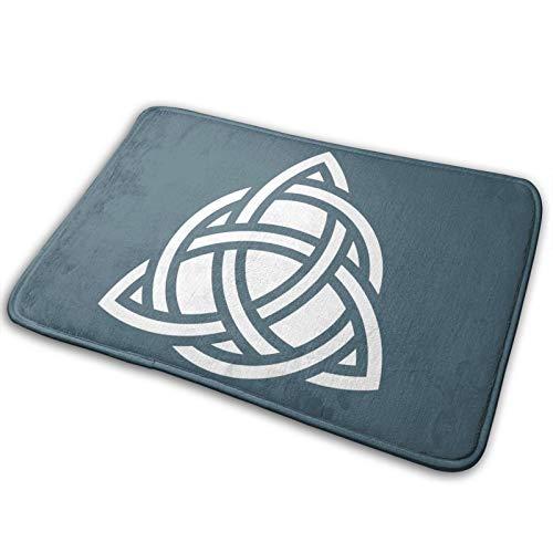 Celtic Symbol Triquetra Home Carpet Entry Patio Durable Door Mat Indoor Outdoor Waterproof Easy to Clean
