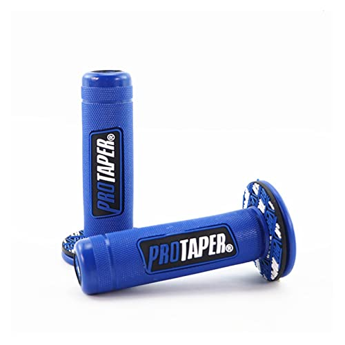 HUAHUA Yang Wang Store 7/8' Universal Motorcycle PRO Taper Pubr Grips Gel Brake Gomma Motocross Poggiateca Maniglia Grip Fit for Pit Bike Cafe Racer PCX (Color : Blue)