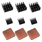 DEYUE 3x3 SET Alu Kühlkörper in verschiedenen Größen für Raspberry Pi 3 Model B Raspberry pi 2 Model B zum Aufkleben
